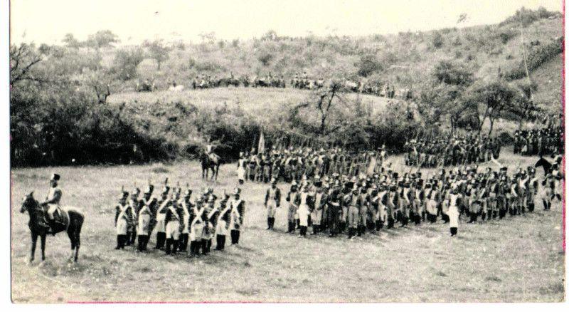 Підготовка до зйомок битви під Ватерлоо.
