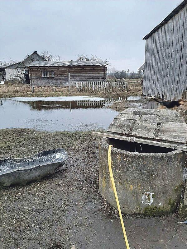 Воду з льоху доводиться відкачувати у колодязь.