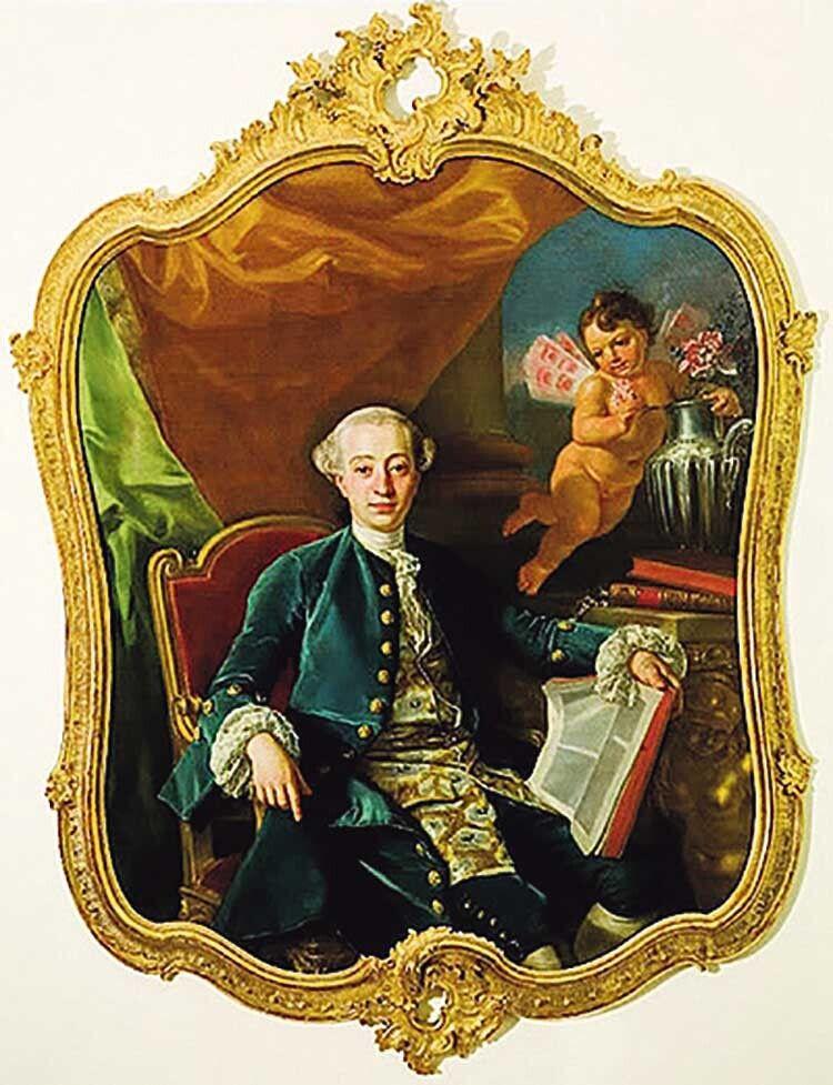 Один із найвідоміших портретів Казанови, створений венеціанським живописцем Алессандро Лонгі.