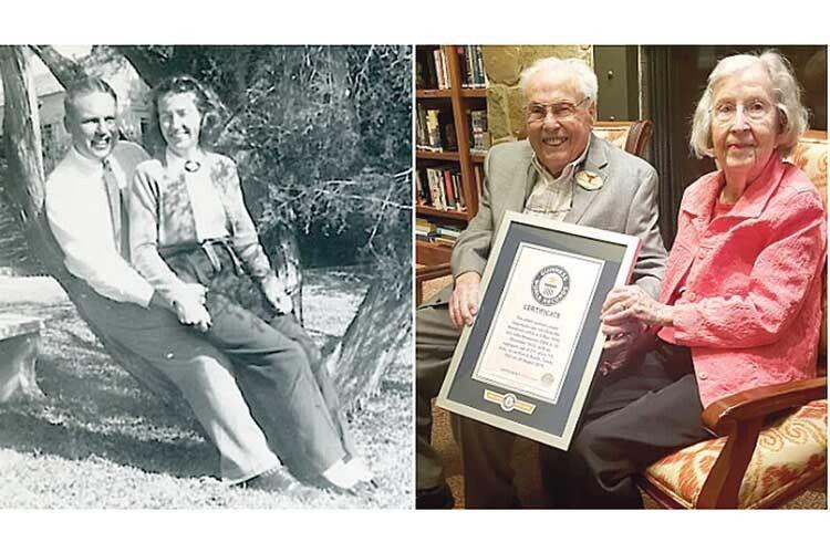 106-річний Джон Хендерсон ійого 105-літня дружина Шарлотта потрапили вКнигу рекордів Гіннесса якнайстаріша знині живих пар засукупним віком, які разом із 1939-го.