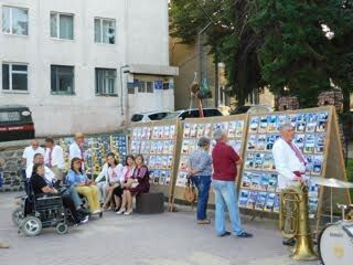 На виставці фотодокументів, присвячених 28 іменинам України.