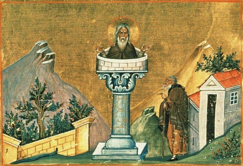 Симеон знаменитий тим, що провів на стовпі 37 років у пості та молитві, а також іншими аскетичними подвигами.