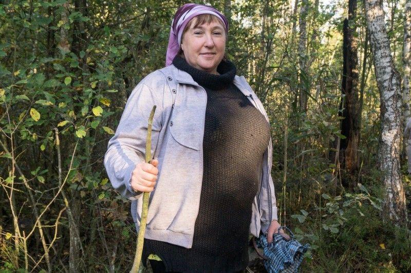 Валентина Верешко, яка посприяла журналістам у поїздці на болото.