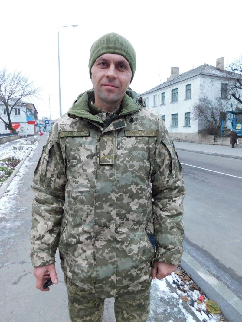 Захисник України Юрій Харків. Фото Лесі ВЛАШИНЕЦЬ.
