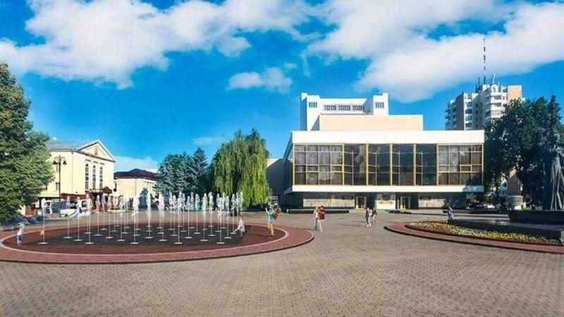 Проєкт реконструкції Театрального майдану, який переміг у конкурсі.
