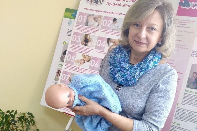 Психолог Оксана Касіян налаштовує майбутніх мам  на грудне вигодовування немовлят.