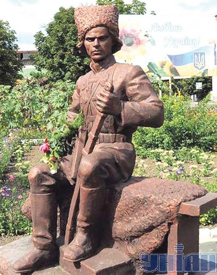 Пам'ятник Нестору Махно у Гуляйполі.