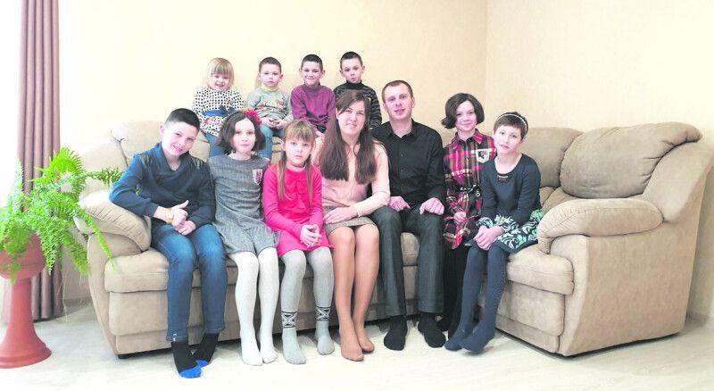 Велика і дружна сім'я Віктора таНадії Сукачів.