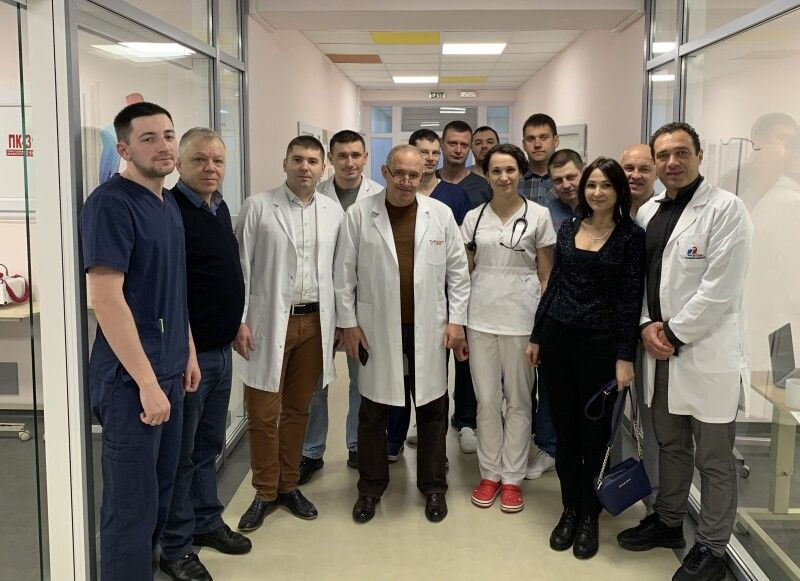 Бригада ковельських лікарів із колегами із столиці після пересадки серця. Грудень 2019 року.