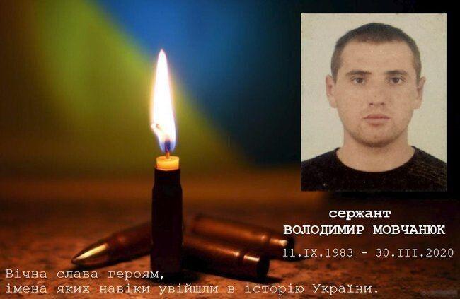 Володимир Сергійович Мовчанюк (11.09.1983 - 30.03.2020)