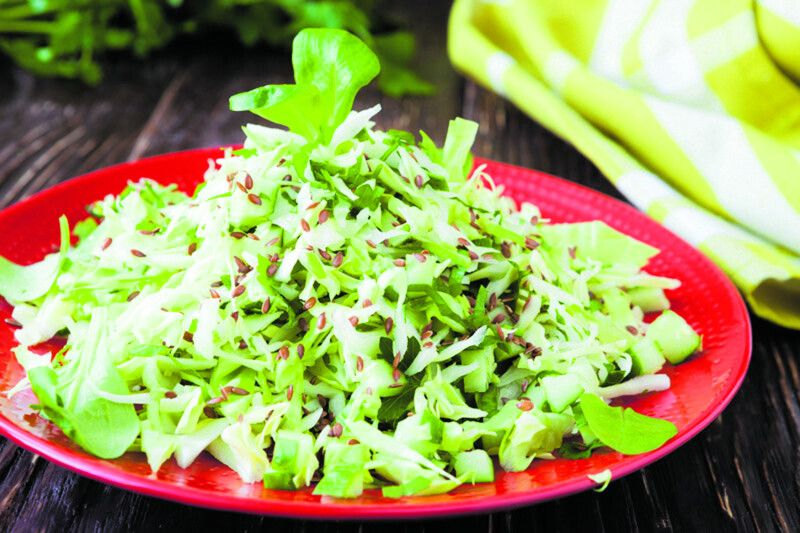 crispy salad of young cabbage