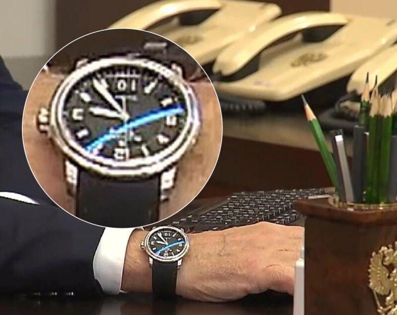 Годинник Путіна 17 вересня показував 10-е число. Фото facebook.com/currenttimetv.