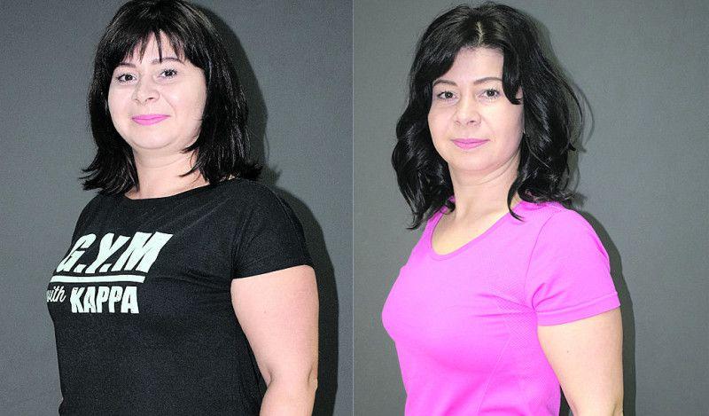 До і після: чарівна Інна Лясковець результатом задоволена.