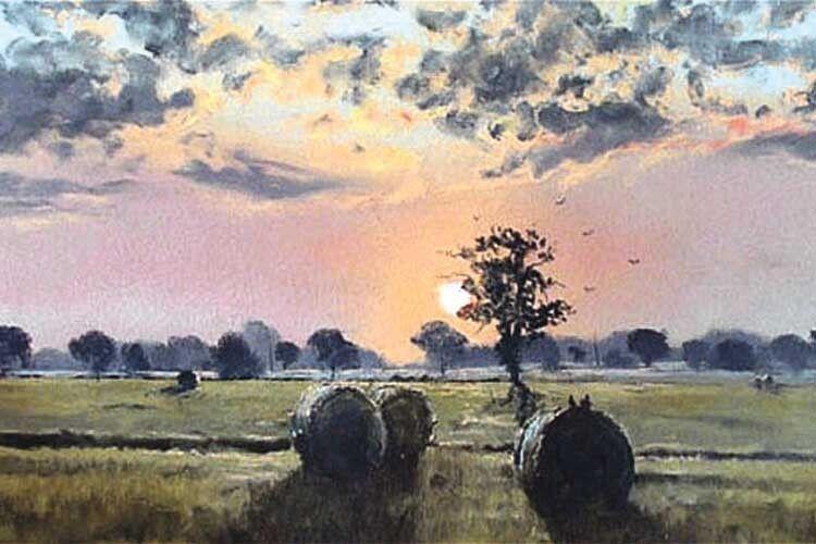 Так майстерно відтворити барви призахідного неба вдається далеко не кожному досвідченому митцю.