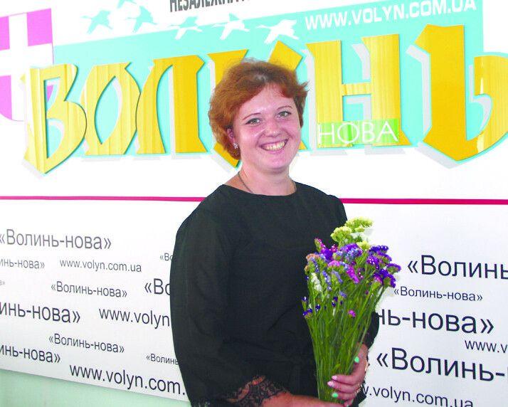 Оксана Гальчин в гостях у редакції «Газети Волинь».
