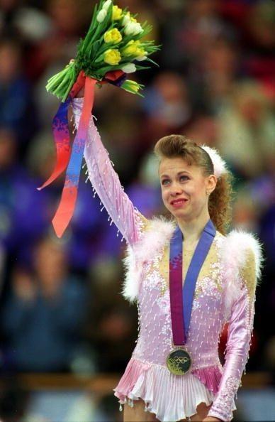 Перше золото Україні на зимовій Олімпіаді здобула Оксана Баюл.