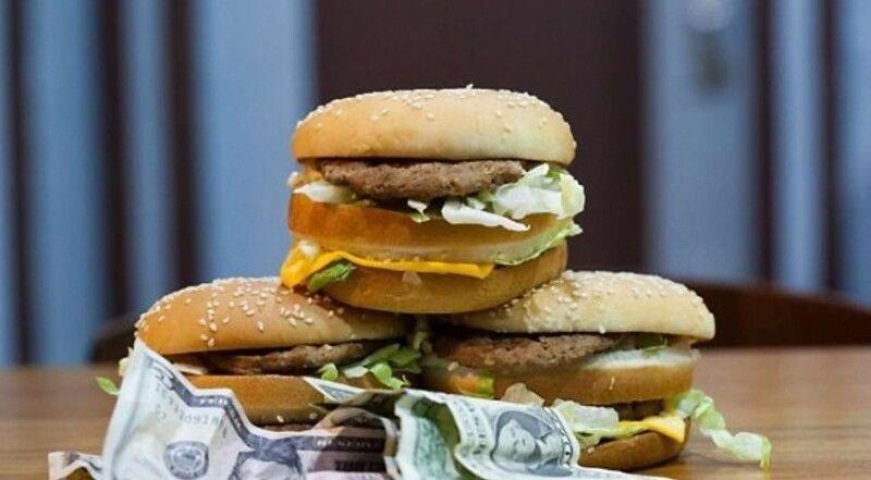 У США бургер «Бік Мак» коштує 5,74 долара, тоді як в Україні – 57 гривень, що трохи більше двох доларів.