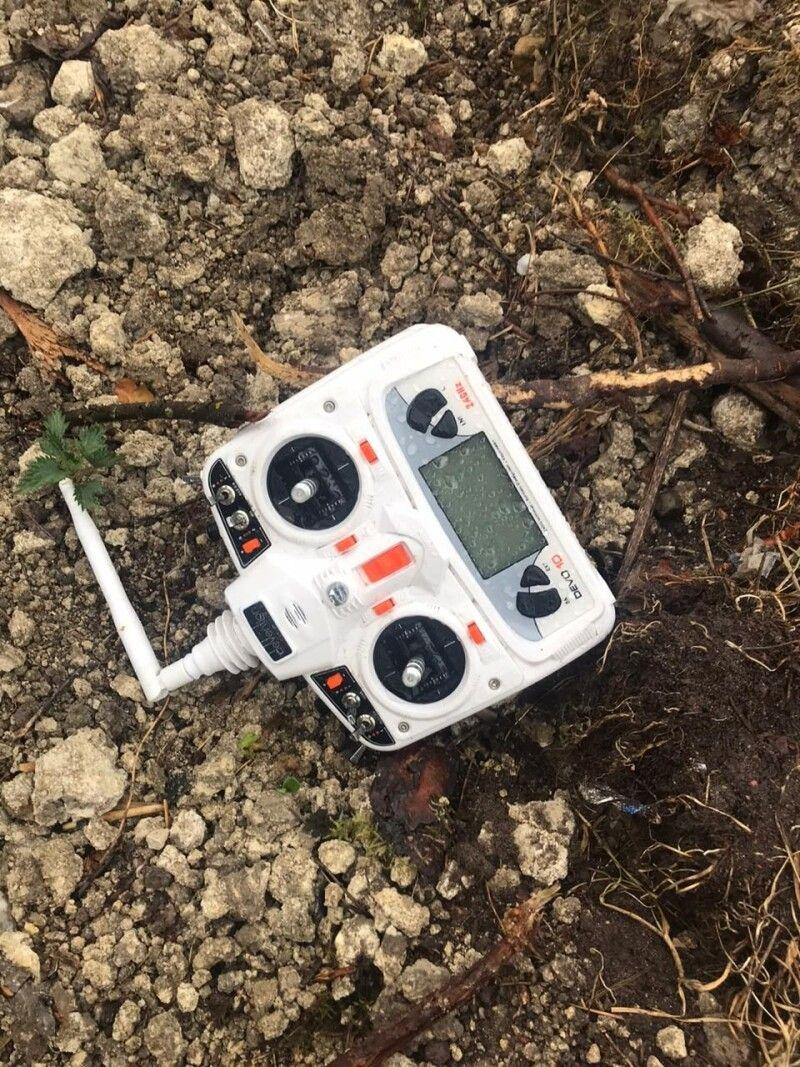 За допомогою дрона порушники вивчали ситуацію. Фото пресслужби Львівського прикордонного загону.