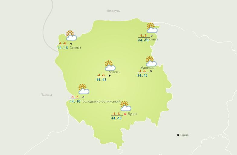 Такою буде погода сьогодні на Волині.