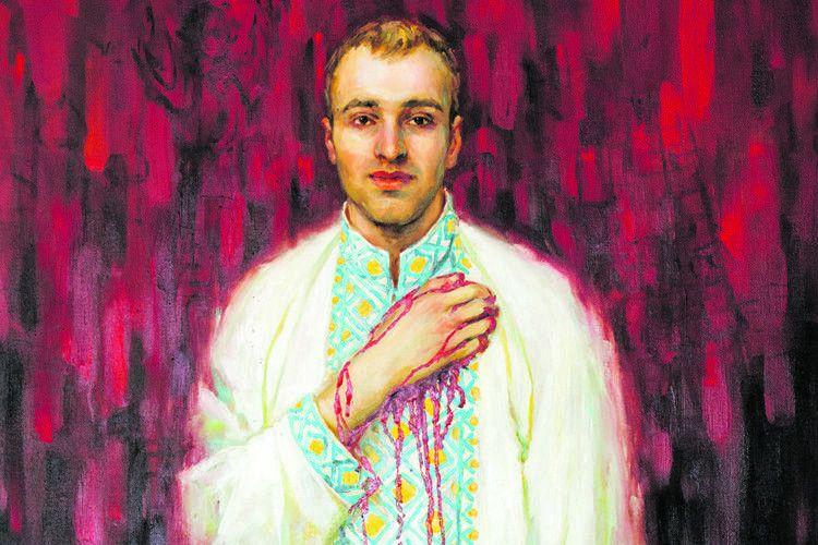 Дивовижне написання портрета майданівця Василя Мойсея: фарба, якою Іванна зобразила кров, довго не висихала і потекла...