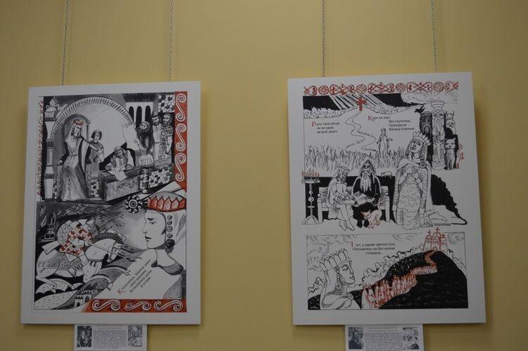 Оригінали малювалина форматі А3 чорнилами, лінером, тушшю та гуашшю.