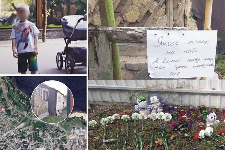 Місцеві жителі несуть квіти та іграшки до будинку підозрюваних, де дитина зазнала жахливих травм,  що призвели до смерті…