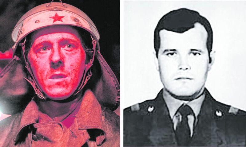 Білорус Василь Ігнатенко загинув 25-річним. Його мати не змогла оцінити схожість британського актора Адама Нагаітіса зі своїм сином, бо ніколи не бачила Васю у пожежній формі.