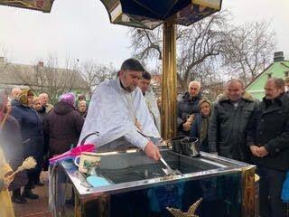 Під час освячення води в Свято-Вознесенському храмі Горохова.