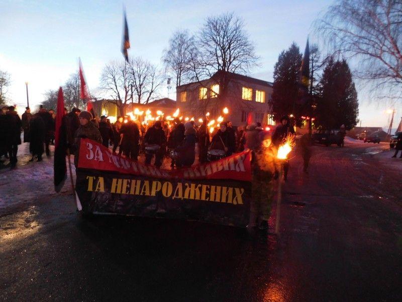Під час мітингу-реквієму і смолоскипного маршу у Горохові.