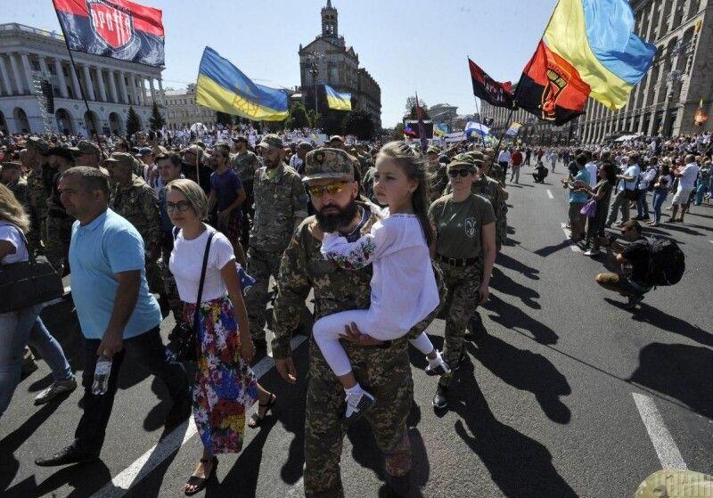 Марш Захисників України у 2019-ому.
