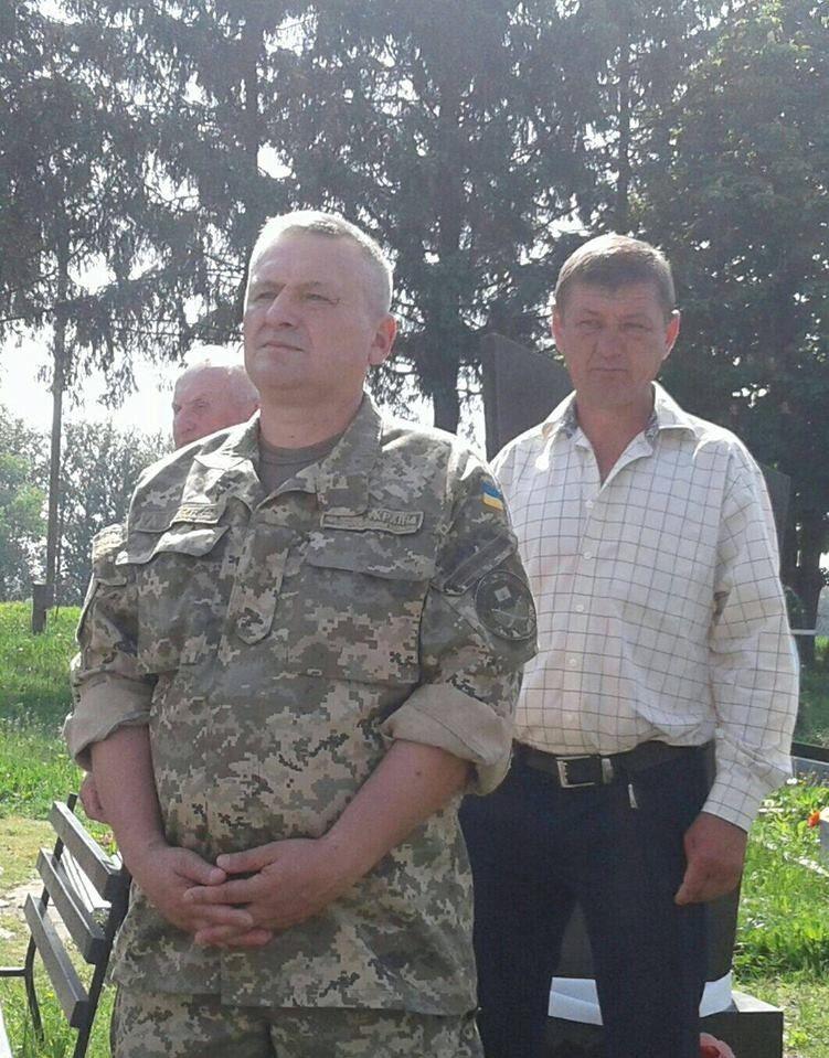 Учасники АТО Олег Дмитрук та Юрій Сенюта.