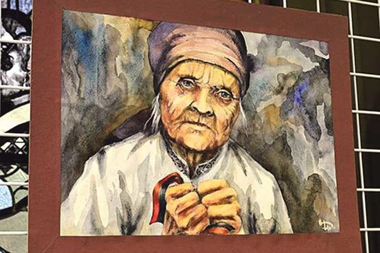 Картина «Мати» є збірним образом матерів, бабусь, усіх жінок,  які чекають своїх чоловіків та синів із війни.