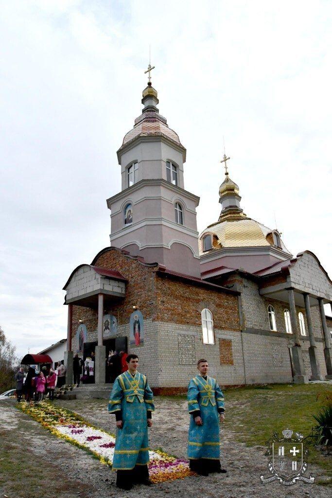 Храм на честь святих мучеників Адріана й Наталії.