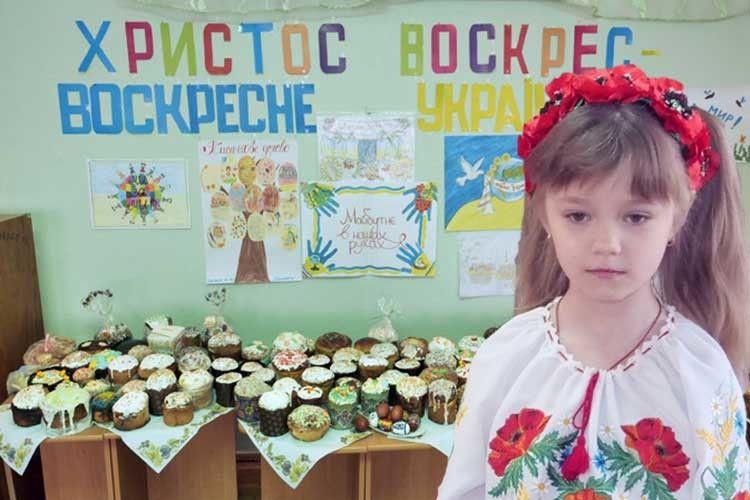 Ця маленька україночка, як і всі її друзі в садочку,  вдячна воїнам-героям.