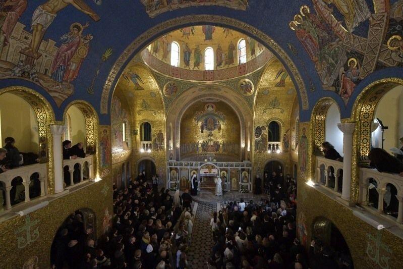 Промова Франциска у Софійському соборі Української греко-католицької церкви в Римі.
