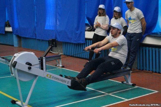 Дмитро Іщенко, інвалід 2-ї групи, академічне веслування на тренажерах