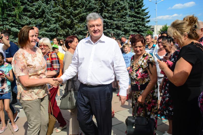 Волиняни поспішали потиснути руку Петру Олексійовичу.