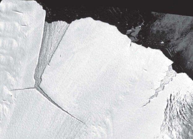 Це найбільший за останні 50 років айсберг. Фото BBC.com.