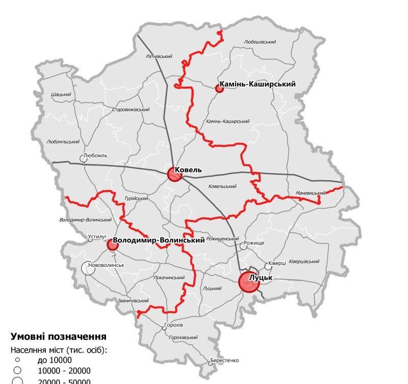 В області передбачено утворення чотирьох районів..