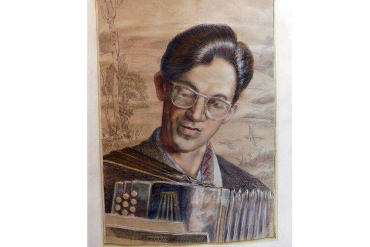 Портрет Степана Кривенького горохівський художник Володимир Гетьманчук написав через 14 літ після відходу Піснедара в засвіти.