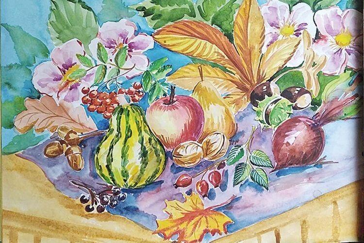 На картинах художниці і яскраві квіти, і буяння барв природи.