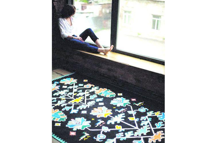 На міжнародній виставці килимів у Ганновері слов'янські мотиви в орнаменті стали неабиякою «фішкою» українських майстринь.