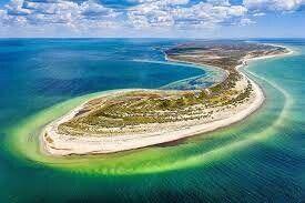 Ось він – диво-острів Джарилгач! Фото Youtube.com.