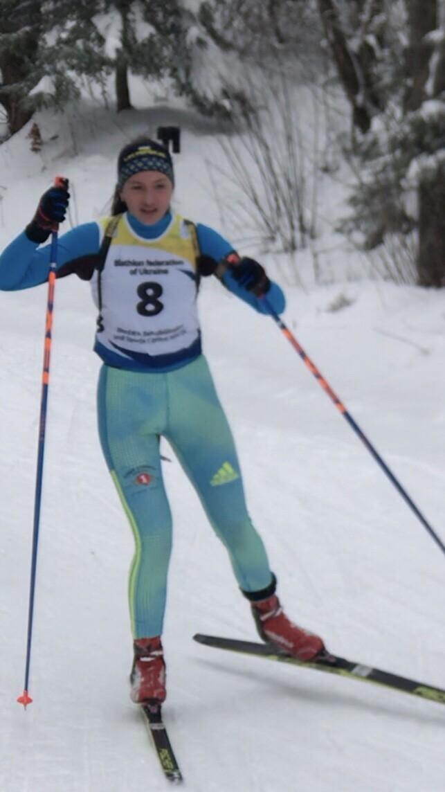 Аліна Хміль – надія українського спорту. Фото Федерації біатлону Волині.