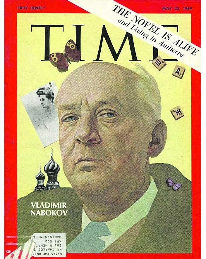 Володимир Набоков на обкладинці журналу Time (травень 1969-го).