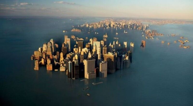 «Затоплення прибережних територій призведе до втрати 1,8 мільйона квадратних кілометрів суші, що перевищує площу Франції, Німеччини, Іспанії і Великобританії».
